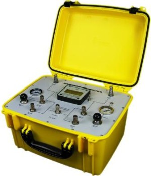 The PS-425 Pitot-Static tester is a low-maintenance, digital tester that is fully portable.  The PS-425 is powered by an internal rechargeable 12 volt battery (included in purchase), which enables the test set to be used completely independent of any external power source. A connector is provided for an external 12 volt DC power adapter (included).  The PS-425 incorporates the altitude, VSI, and airspeed in one single display.  The PS-425 is designed and priced for non-RVSM markets, and includes two quick-connect hoses, 12 VDC power adapter, calibration certificate, and a limited 2-year warranty. This product is ideal for performing simple go/no-go leak tests, as well as for general use as a low-end pitot-static tester. It only requires an annual calibration, and the sensors are technician-proof, which contributes to reduced annual maintenance costs. Price $3500.00 USD